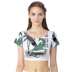 Surf - Laguna Short Sleeve Crop Top (Tight Fit)