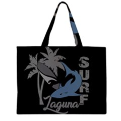 Surf   Laguna Zipper Large Tote Bag by Valentinaart