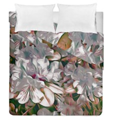 Elegant Flowers B Duvet Cover Double Side (queen Size) by MoreColorsinLife