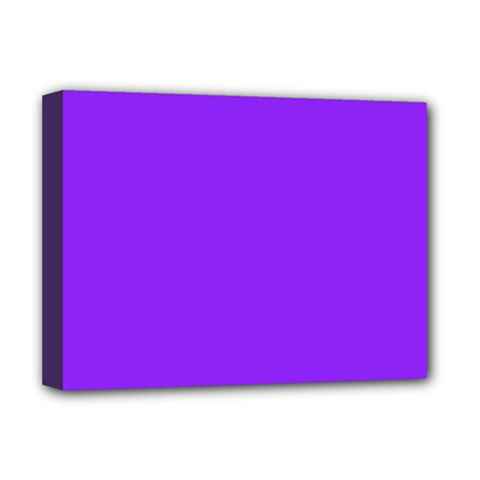 Neon Purple Solid Color  Deluxe Canvas 16  X 12   by SimplyColor