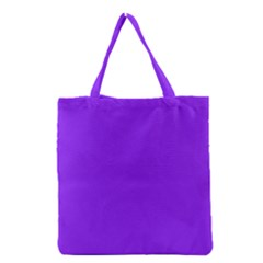 Neon Purple Solid Color  Grocery Tote Bag by SimplyColor