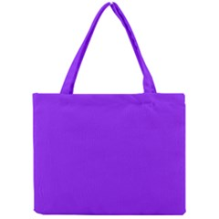 Neon Purple Solid Color  Mini Tote Bag by SimplyColor