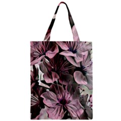 Wonderful Silky Flowers A Zipper Classic Tote Bag by MoreColorsinLife