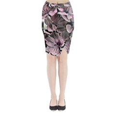 Wonderful Silky Flowers A Midi Wrap Pencil Skirt by MoreColorsinLife