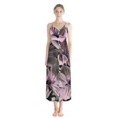 Wonderful Silky Flowers A Button Up Chiffon Maxi Dress by MoreColorsinLife