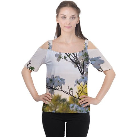 Morning Promise Women s Cutout Shoulder Tee by oddzodd
