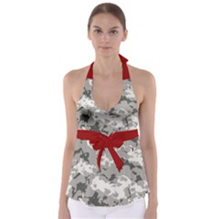Winter Camouflage Babydoll Tankini Top by LetsDanceHaveFun