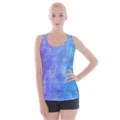 Blue Purple Watercolors                    Crisscross Back Tank Top