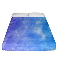 Blue Purple Watercolors                  Fitted Sheet (king Size) by LalyLauraFLM