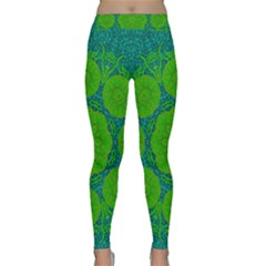 Summer And Festive Touch Of Peace And Fantasy Classic Yoga Leggings by pepitasart