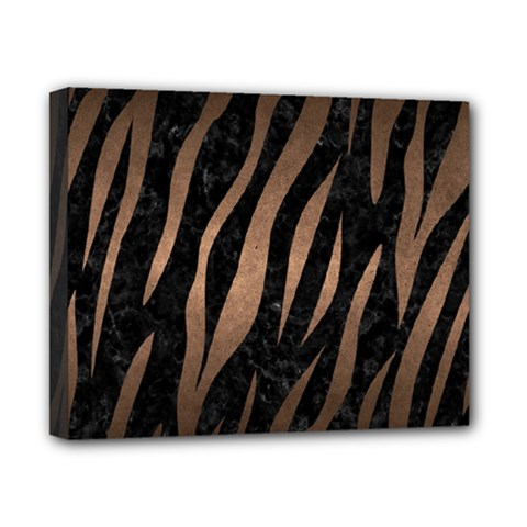 Skin2 Black Marble & Bronze Metal Canvas 10  X 8  (stretched) by trendistuff