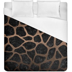 Skin1 Black Marble & Bronze Metal (r) Duvet Cover (king Size) by trendistuff