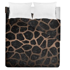 Skin1 Black Marble & Bronze Metal (r) Duvet Cover Double Side (queen Size) by trendistuff