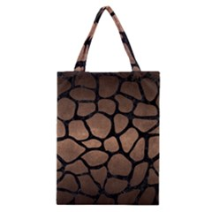 Skin1 Black Marble & Bronze Metal Classic Tote Bag by trendistuff