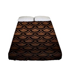 Scales2 Black Marble & Bronze Metal (r) Fitted Sheet (full/ Double Size) by trendistuff