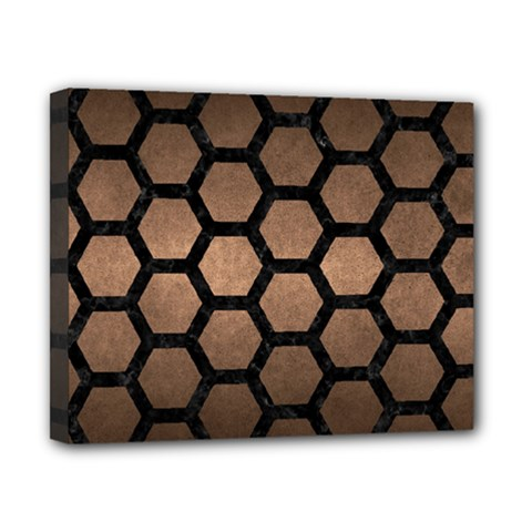 Hexagon2 Black Marble & Bronze Metal (r) Canvas 10  X 8  (stretched) by trendistuff