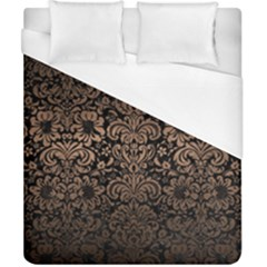 Damask2 Black Marble & Bronze Metal Duvet Cover (california King Size) by trendistuff