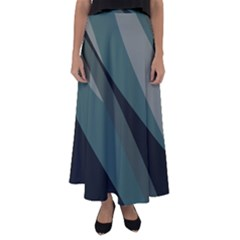 Tal Camo Abstract Flared Maxi Skirt