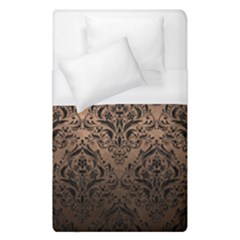 Damask1 Black Marble & Bronze Metal (r) Duvet Cover (single Size) by trendistuff