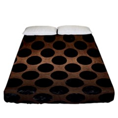 Circles2 Black Marble & Bronze Metal (r) Fitted Sheet (california King Size) by trendistuff