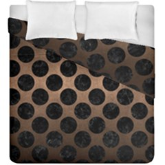 Circles2 Black Marble & Bronze Metal (r) Duvet Cover Double Side (king Size) by trendistuff