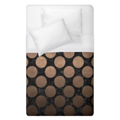 Circles2 Black Marble & Bronze Metal Duvet Cover (single Size) by trendistuff