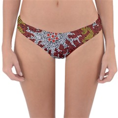 Aboriginal Art – Riverside Dreaming Reversible Hipster Bikini Bottoms