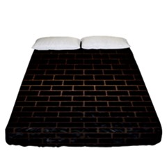 Brick1 Black Marble & Bronze Metal Fitted Sheet (california King Size) by trendistuff