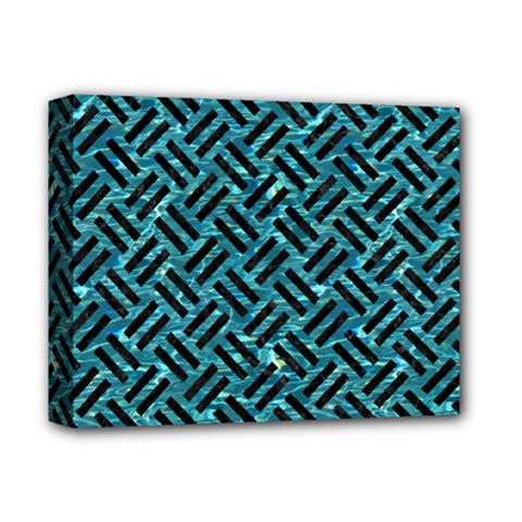 Woven2 Black Marble & Blue Green Water (r) Deluxe Canvas 14  X 11  (stretched) by trendistuff