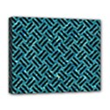 WOVEN2 BLACK MARBLE & BLUE-GREEN WATER (R) Deluxe Canvas 20  x 16  (Stretched) View1