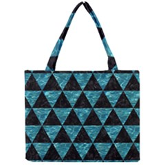 Triangle3 Black Marble & Blue Green Water Mini Tote Bag by trendistuff