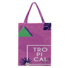 Behance Feelings Beauty Polka Dots Leaf Triangle Tropical Pink Classic Tote Bag by Mariart