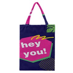 Behance Feelings Beauty Hey You Leaf Polka Dots Pink Blue Classic Tote Bag by Mariart