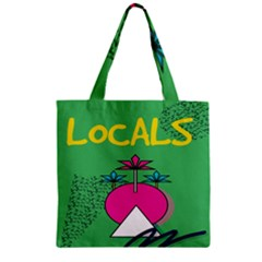 Behance Feelings Beauty Local Polka Dots Green Zipper Grocery Tote Bag by Mariart
