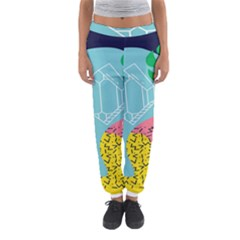 Behance Feelings Beauty Waves Blue Yellow Pink Green Leaf Women s Jogger Sweatpants by Mariart