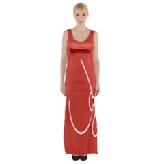 Caffeine And Breastfeeding Coffee Nursing Red Sign Maxi Thigh Split Dress by Mariart