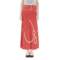 Caffeine And Breastfeeding Coffee Nursing Red Sign Maxi Skirts by Mariart