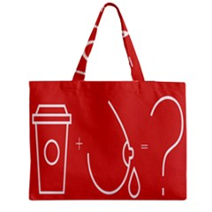 Caffeine And Breastfeeding Coffee Nursing Red Sign Medium Tote Bag by Mariart