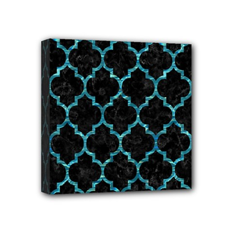 Tile1 Black Marble & Blue Green Water Mini Canvas 4  X 4  (stretched) by trendistuff