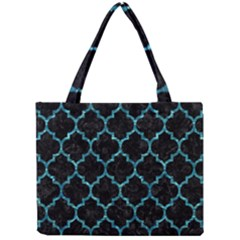 Tile1 Black Marble & Blue Green Water Mini Tote Bag
