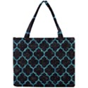 TILE1 BLACK MARBLE & BLUE-GREEN WATER Mini Tote Bag View1