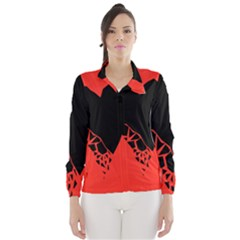 Broken Heart Tease Black Red Wind Breaker (women) by Mariart