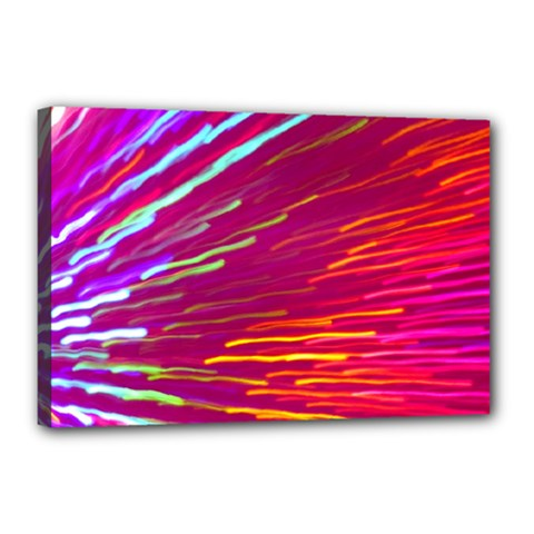 Zoom Colour Motion Blurred Zoom Background With Ray Of Light Hurtling Towards The Viewer Canvas 18  X 12  by Mariart