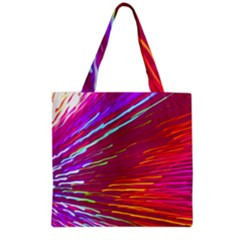 Zoom Colour Motion Blurred Zoom Background With Ray Of Light Hurtling Towards The Viewer Grocery Tote Bag by Mariart