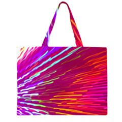 Zoom Colour Motion Blurred Zoom Background With Ray Of Light Hurtling Towards The Viewer Zipper Large Tote Bag by Mariart