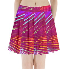 Zoom Colour Motion Blurred Zoom Background With Ray Of Light Hurtling Towards The Viewer Pleated Mini Skirt