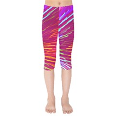 Zoom Colour Motion Blurred Zoom Background With Ray Of Light Hurtling Towards The Viewer Kids  Capri Leggings  by Mariart