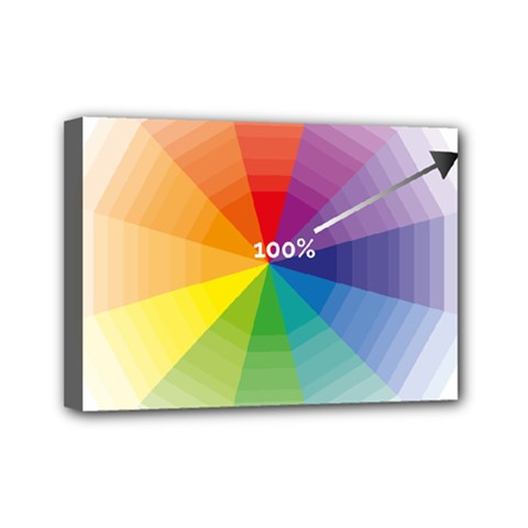 Colour Value Diagram Circle Round Mini Canvas 7  X 5