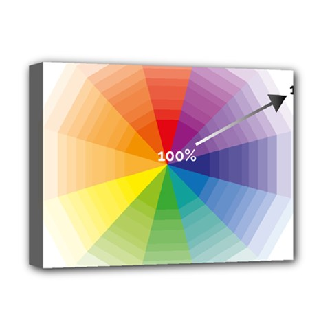 Colour Value Diagram Circle Round Deluxe Canvas 16  X 12   by Mariart