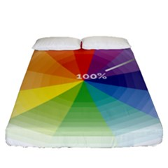 Colour Value Diagram Circle Round Fitted Sheet (queen Size)